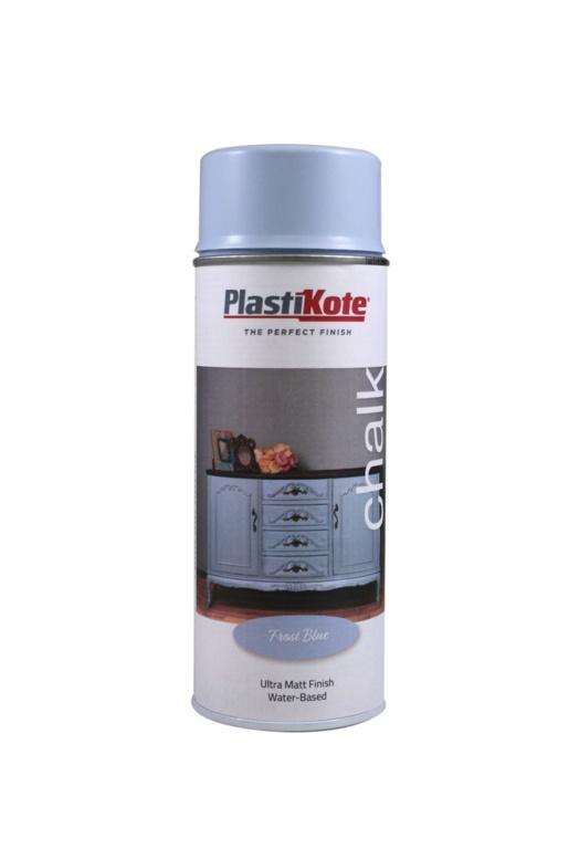 PlastiKote Chalk Spray Paint 400ml - Frost Blue