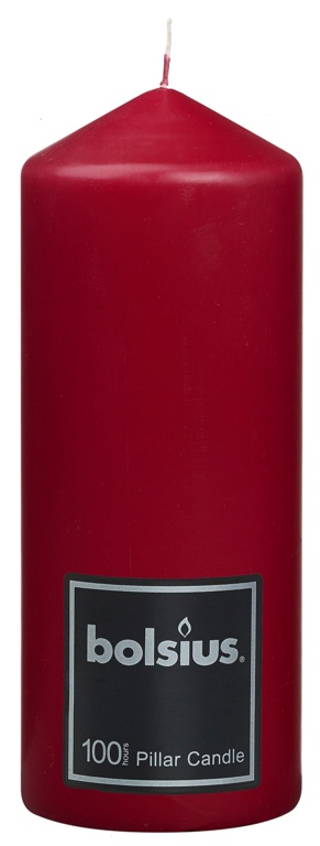 Bolsius Pillar Candle - 198/78 Red