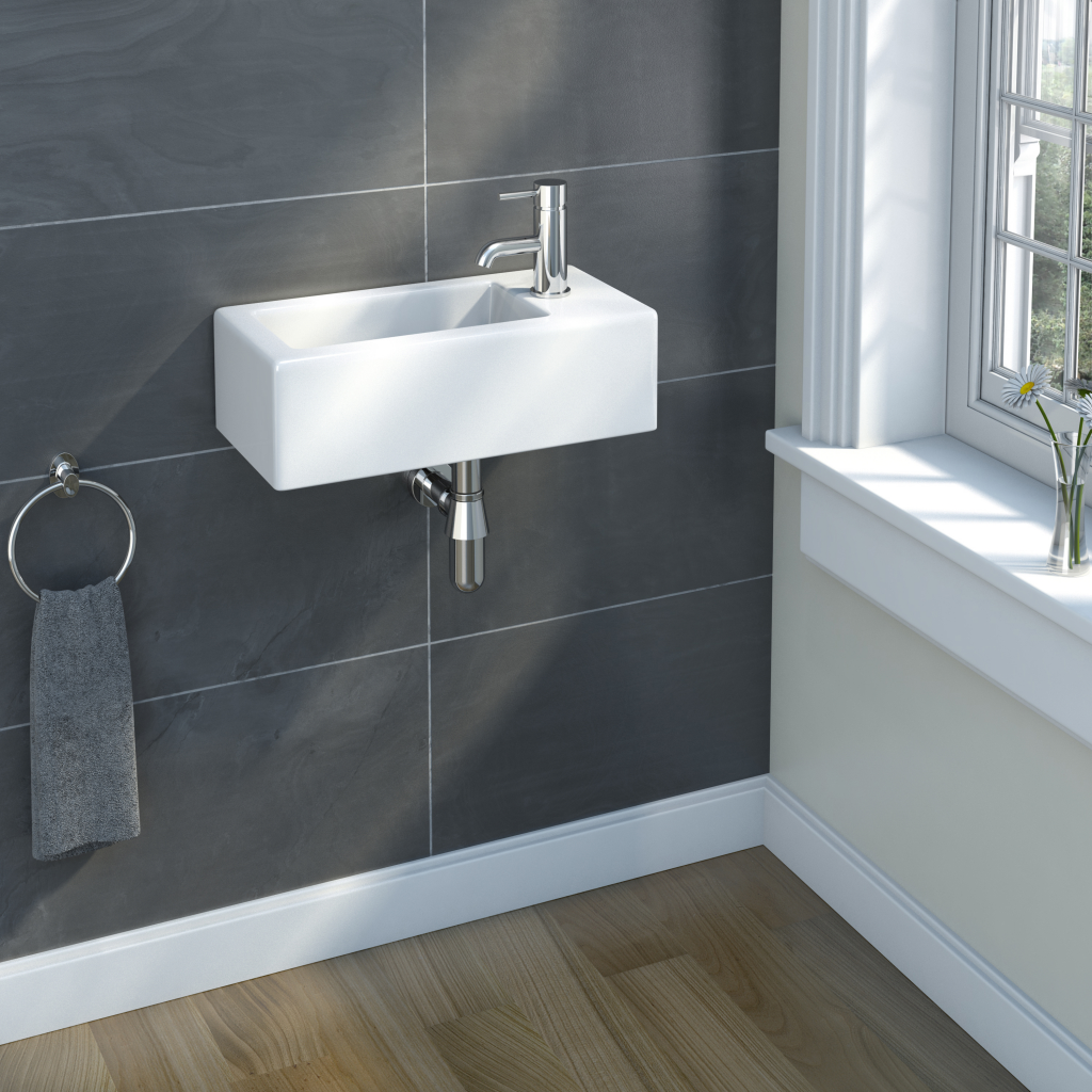 Sp Cloakroom Collection Rectangular Basin 510mm Stax