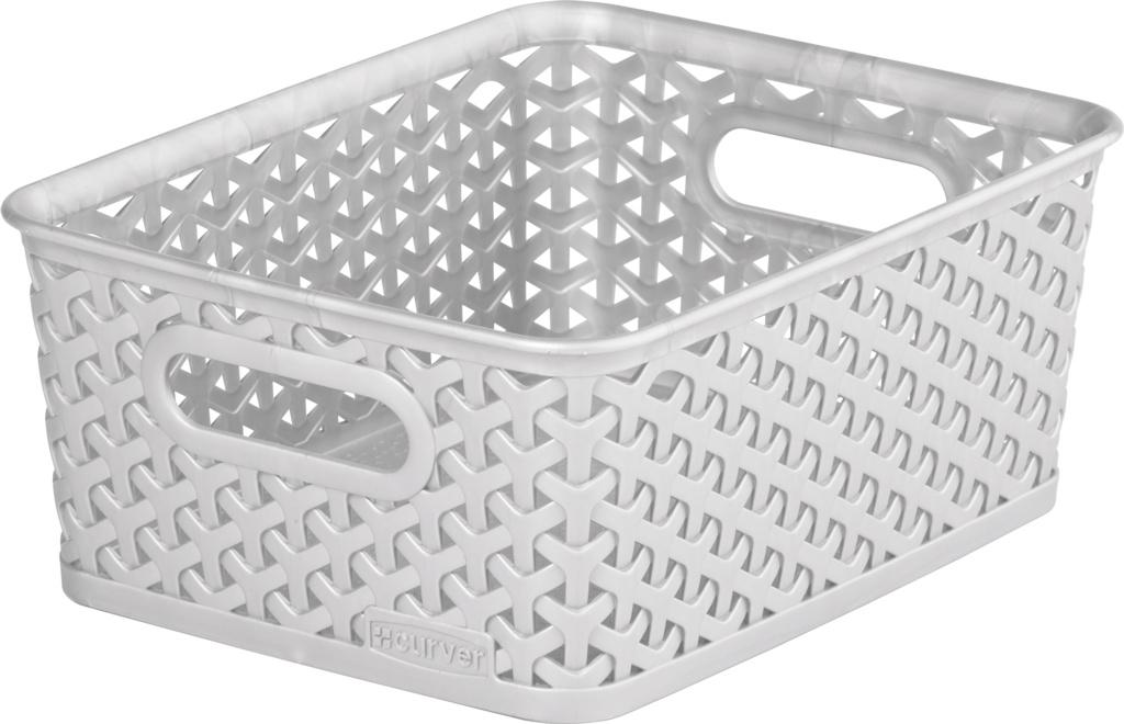 Curver Nestable Rattan Basket - 8L Grey