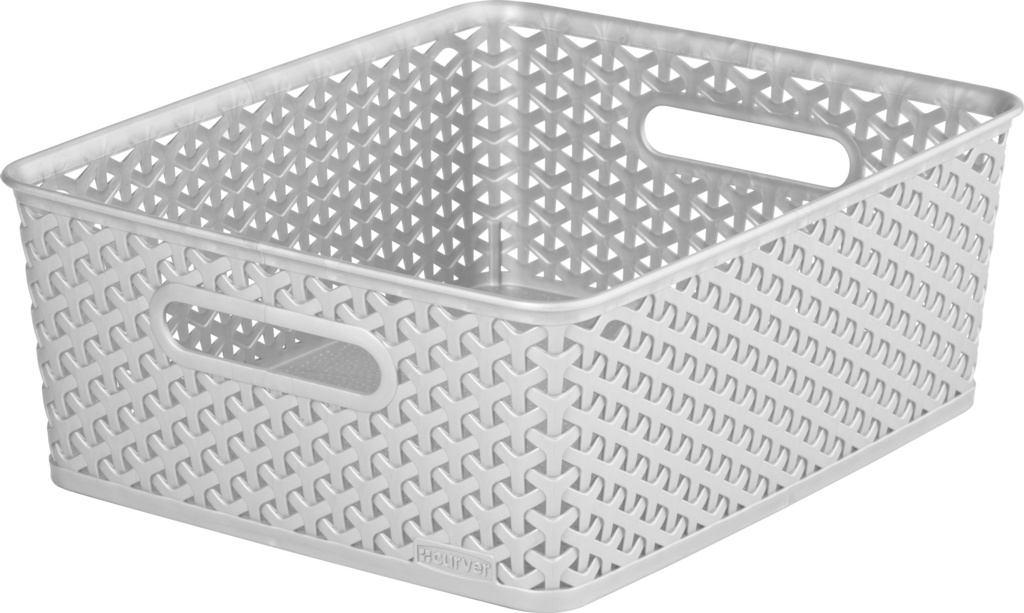 Curver Nestable Rattan Basket - 13L Grey