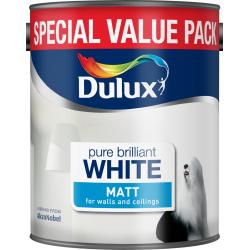 Dulux Matt Emulsion 3L Pure Brilliant White