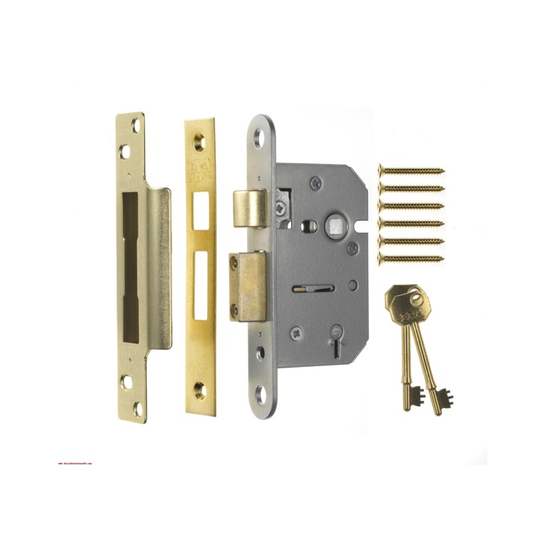 Era Viscount Mortice Sashlock 5 Lever - Brass 63mm Boxed