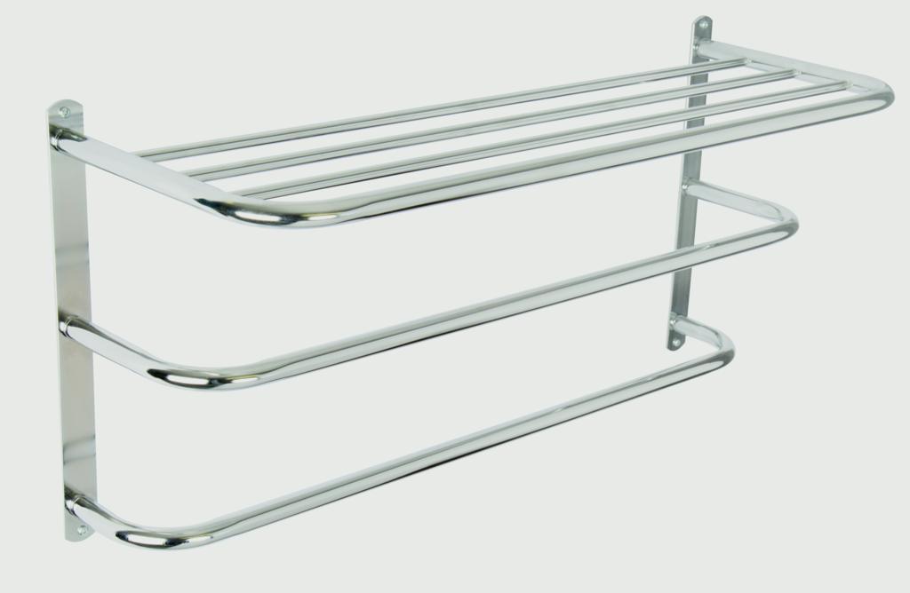Croydex Wall Mounted Towel Rack - Mild Steel/Chrome finish