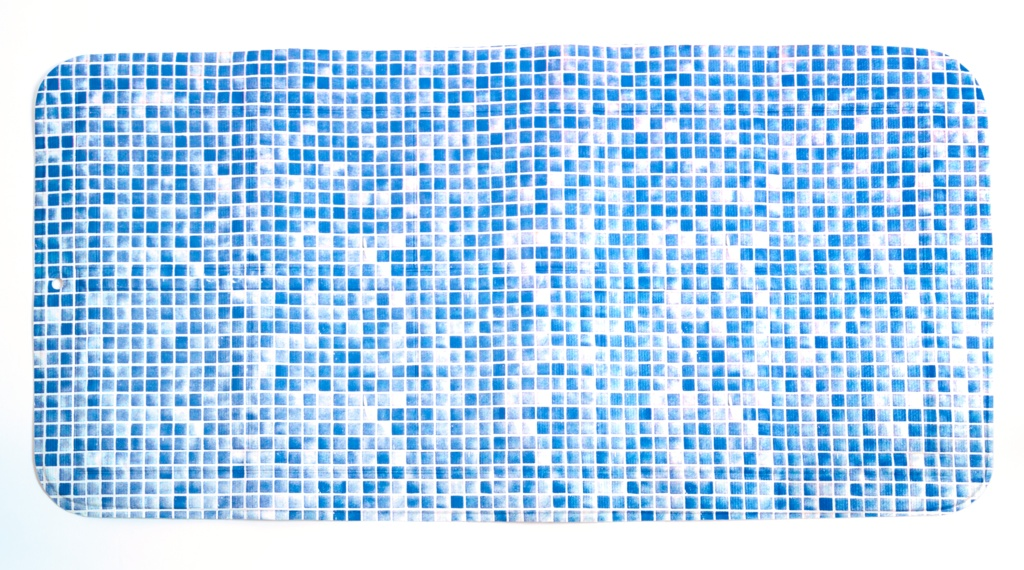 Croydex Blue Mosaic Bath Pillow - Natural Rubber Bath Mats/Blue Mosaic