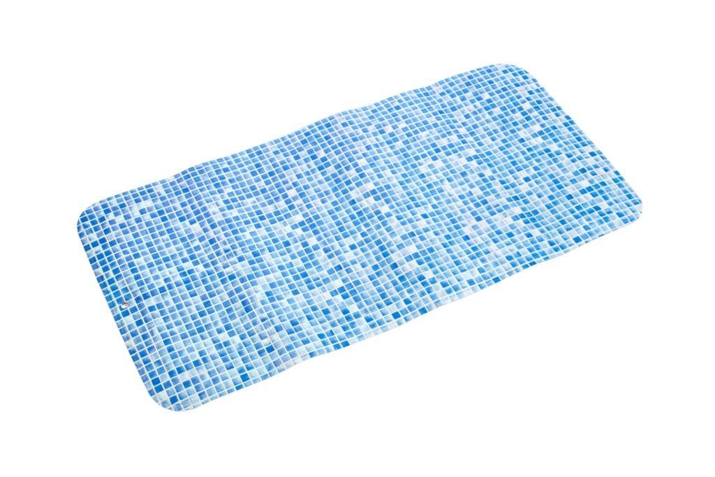 Croydex Mosaic Bath Mat - Blue