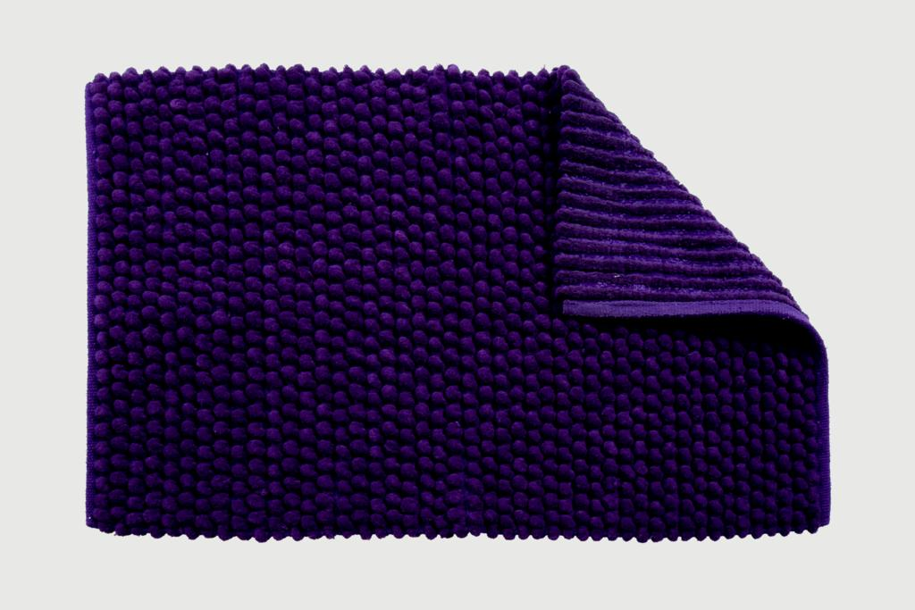 Croydex Purple Soft Cushioned Bath Mat - Textile Bath Mats/Purple