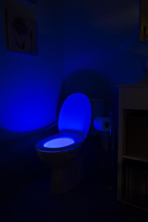 Croydex Colour Changing Toilet Pan Night Light - Homewares/White