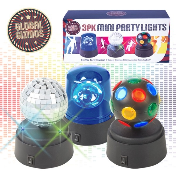 Global Gizmos Mini Party Light Set - Pack 3