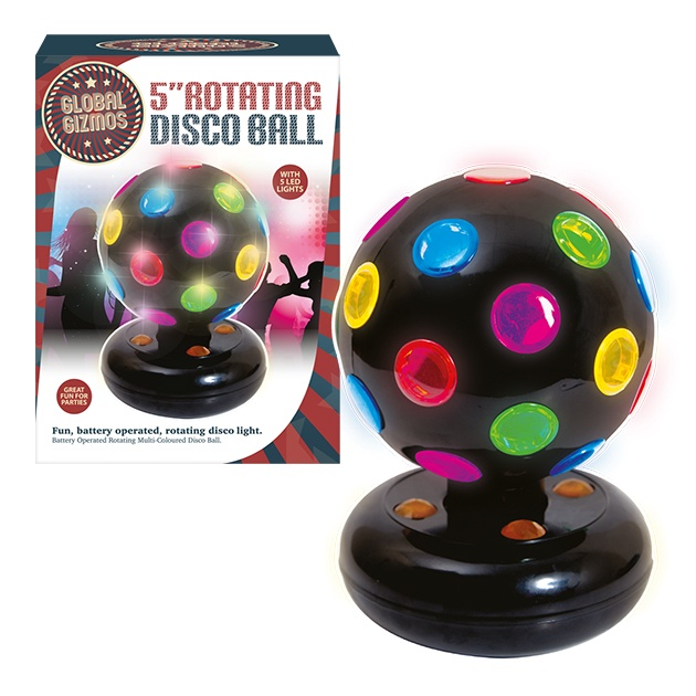 Global Gizmos Disco Ball Black - 5""