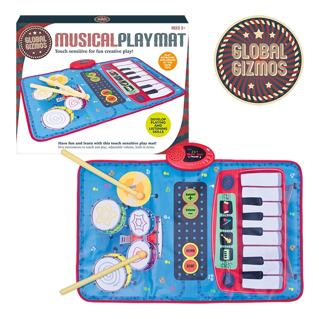 Global Gizmos Keyboard Drum Kit Playmat
