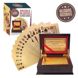 Global Gizmos Gold Plated Playing Cards