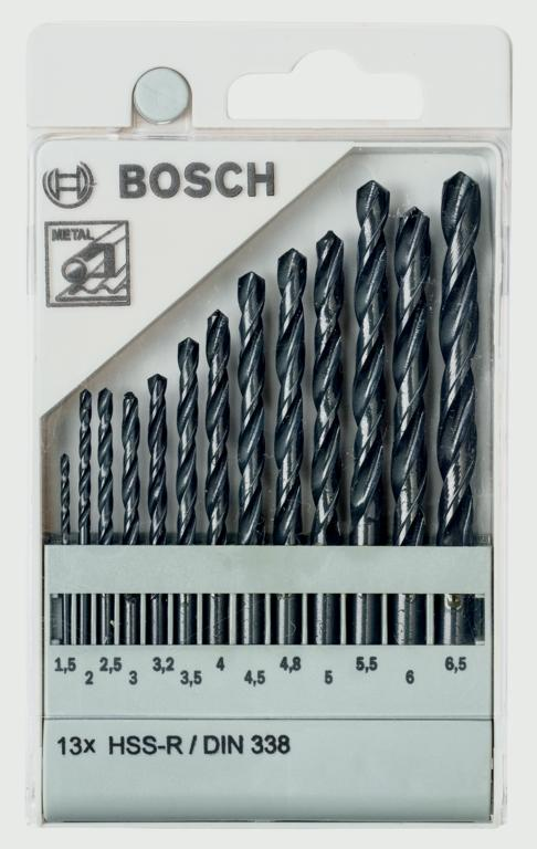 Bosch Metal Drill Bit Set HSS-R DN338 - 13 Piece
