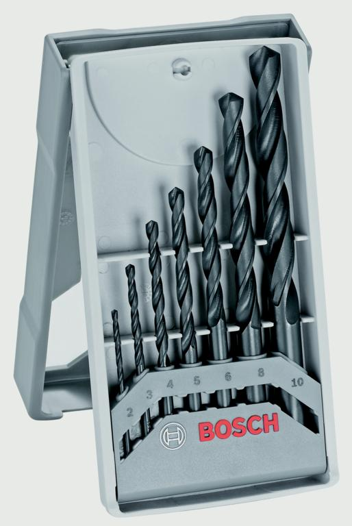 Bosch Metal Drill Bit Set HSS-R Din 338 - 7 Piece