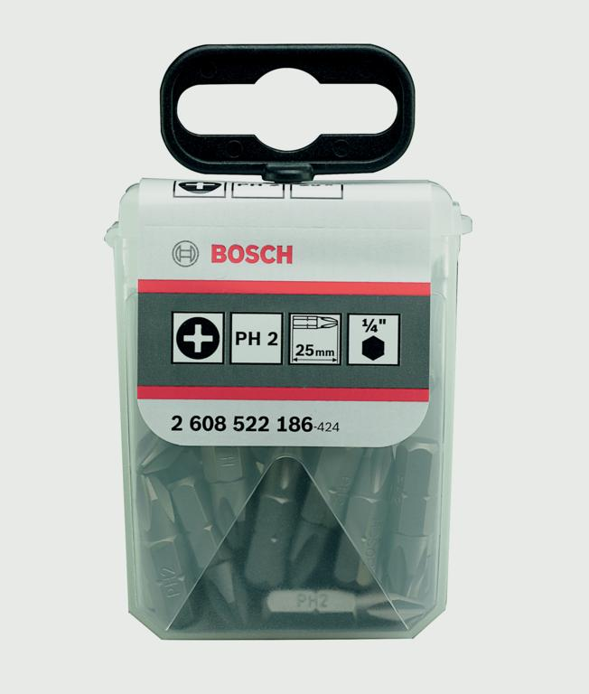 Bosch PH2 Screwdriver Bit Set - 25 Pack