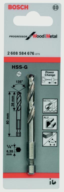 Bosch HSS-G Pilot Drill Bit