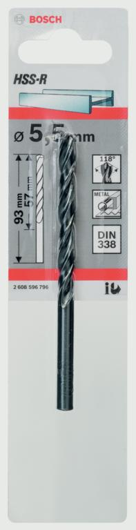 Bosch Metal Drill Bit HSS - 5.5x57x93mm
