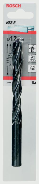 Bosch HSS Twist Point TEQ Drill Bit - 12mm