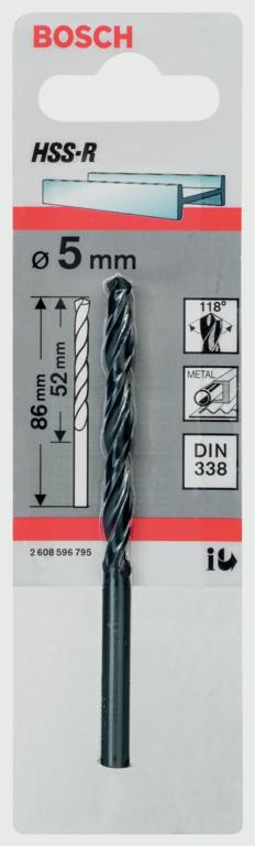 Bosch HSS Twist Point TEQ Drill Bit - 5mm