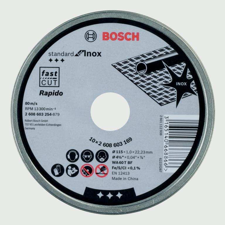 Bosch Metal Cutting Discs - 115mm 10 Pack