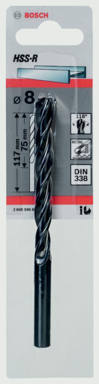 Bosch HSS Twist Point TEQ Drill Bit - 8mm