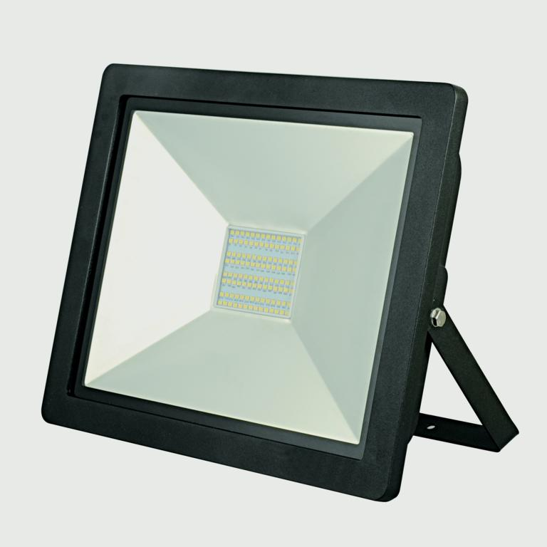 Lyveco 100w LED Floodlight Black IP44 6500k - 6500lm