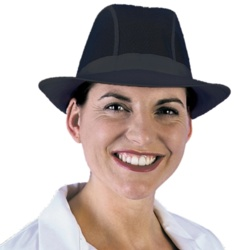 Dennys Unisex Trilby Hat Black (No Hat Band) - Small