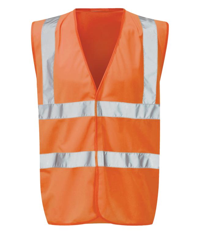 Orbit Black Knight Hi-Vis Waistcoat Orange - XLarge