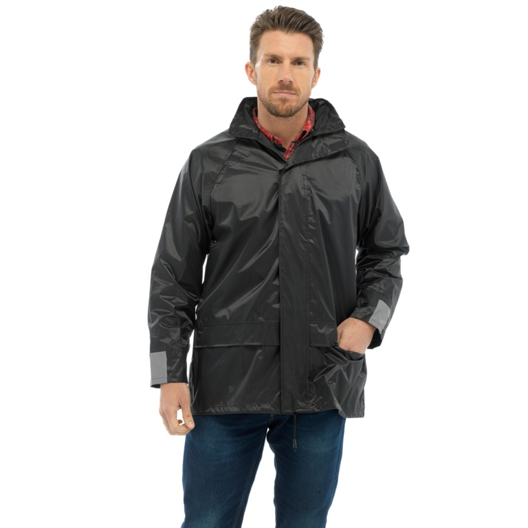 Storm Ridge Adults Waterproof Jacket - Black - Black