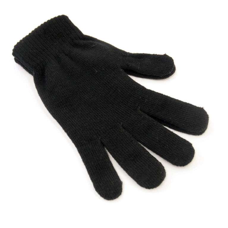 RJM Accessories Mens Thermal Black Magic Gloves - Black