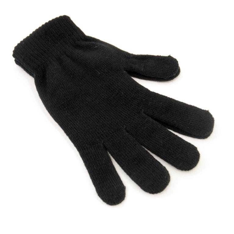 RJM Accessories Mens Thermal Black Magic Gloves - Black