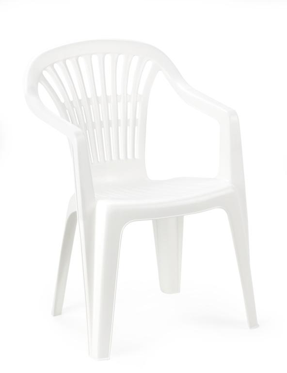 SupaGarden Resin Chair - White