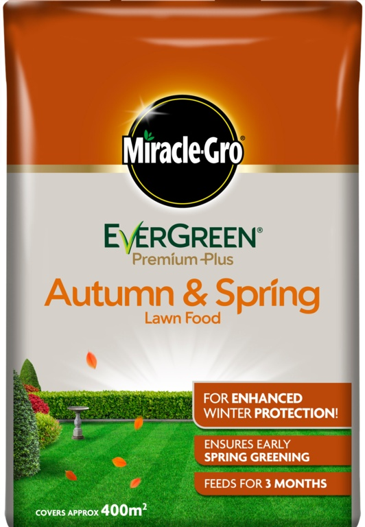 Miracle-Gro Evergreen Premium Plus Autumn & Spring Lawn Food - 400m2
