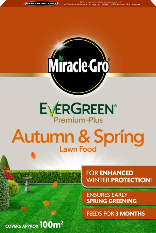 Miracle-Gro Evergreen Premium Plus Autumn & Spring Lawn Food - 100m2