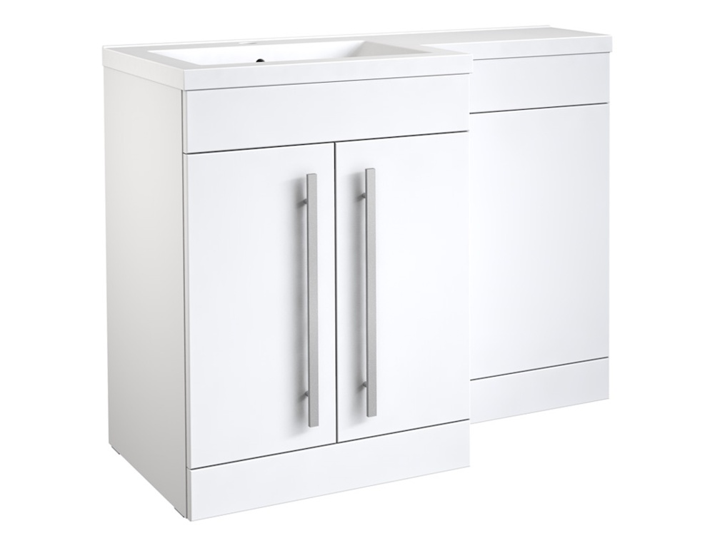 Kvit Matrix 2 Door Basin Unit - Gloss White 600mm