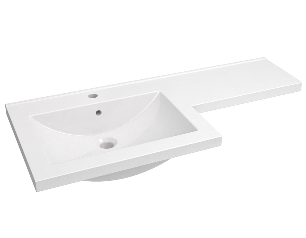 Kvit Matrix L Shaped Basin Right Hand - White 1100mm