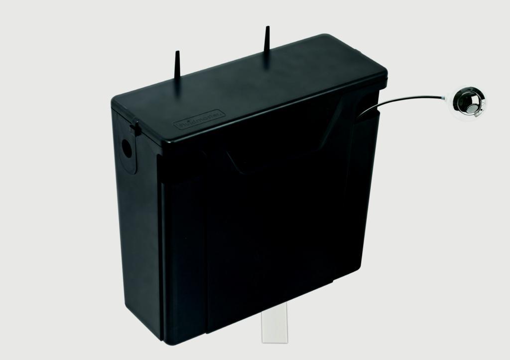 Kvit Front Concealed Cistern
