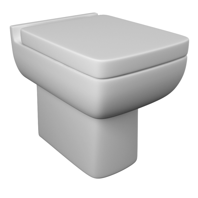 Kvit Back To Wall WC Pan - White