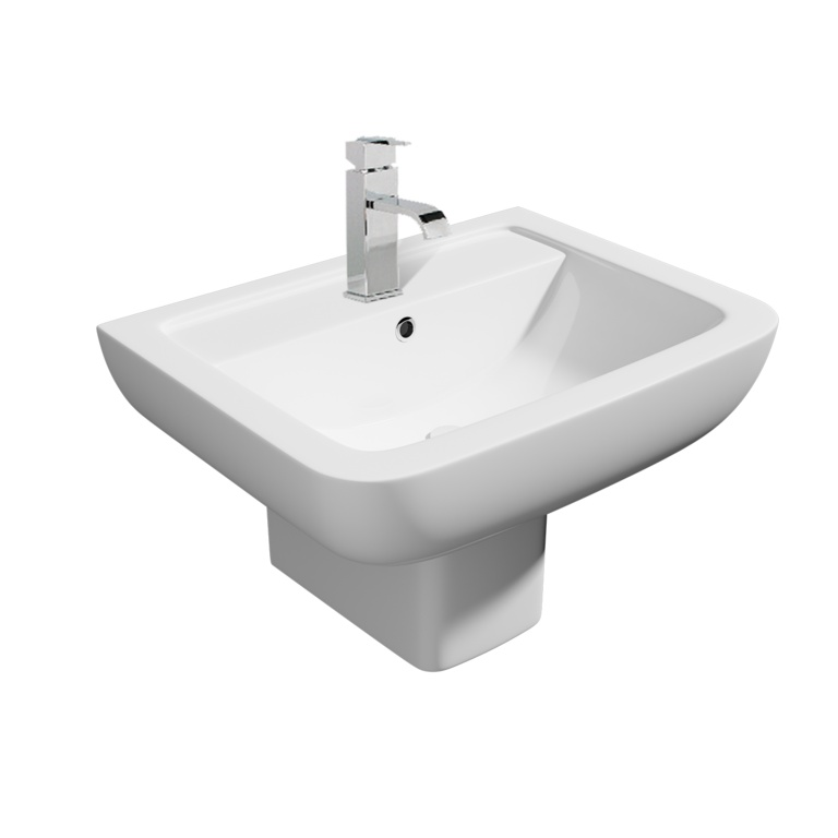 Kvit Options 600 1 Tap Hole Basin - 550mm