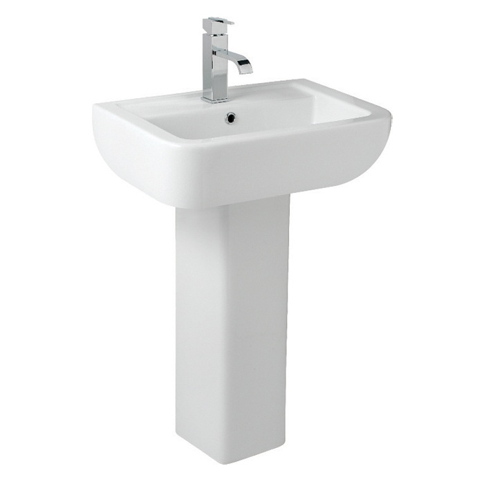 Kvit Square Full Pedestal - White