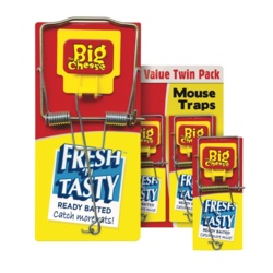 The Big Cheese Fresh Baited Mouse Trap Twin Pack