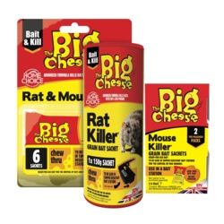 The Big Cheese Rat and Mouse Killer Grain 6x25g