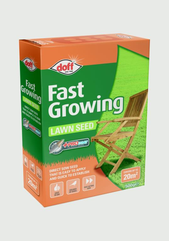 Doff Fast Acting Lawn Seed With Procoat - 500g