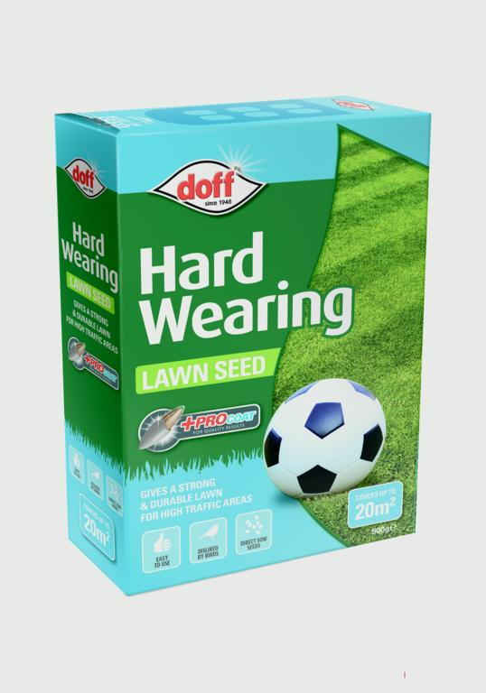 Doff Hardwearing Lawn Seed With Procoat - 500g