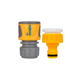 Hozelock Threaded Tap Connector & Standard Soft Touch Hose Connector