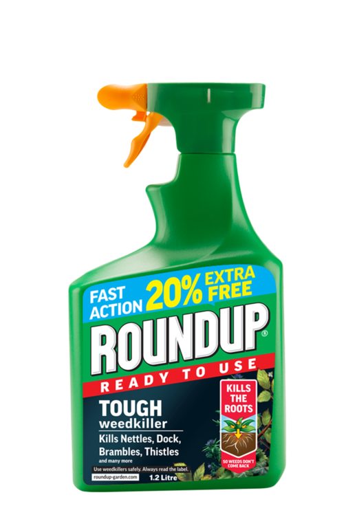 Roundup Tough RTU - 1L Plus 20% Extra Free