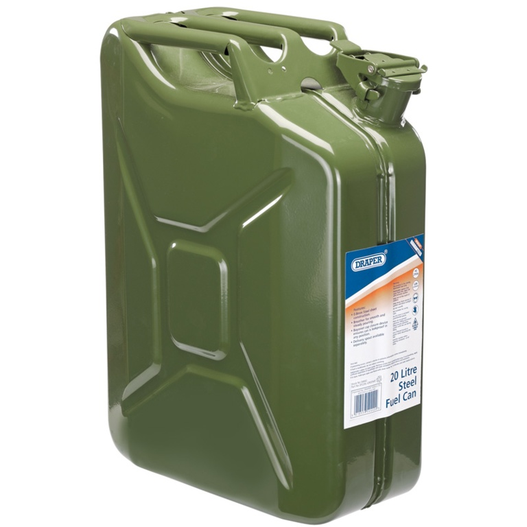Draper Steel Fuel Can - Green 20L
