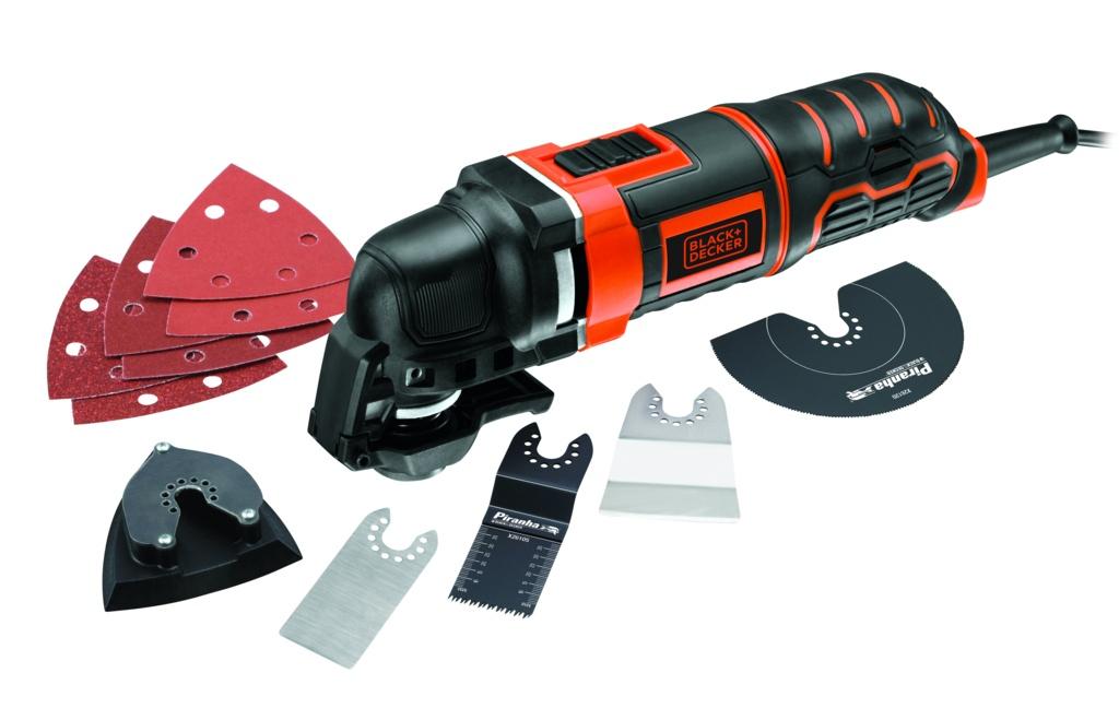 Black & Decker 300W Oscillating Multi Tool with 12 Accessories + Kitbox