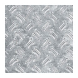 Alfer Checkerplate Aluminium Sheet - 250 x 500 x 1.5mm
