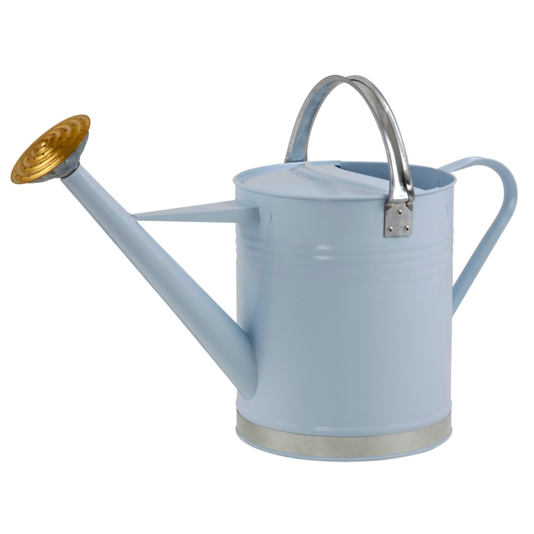 Ambassador Metal Watering Can - Blue 2 Gallon